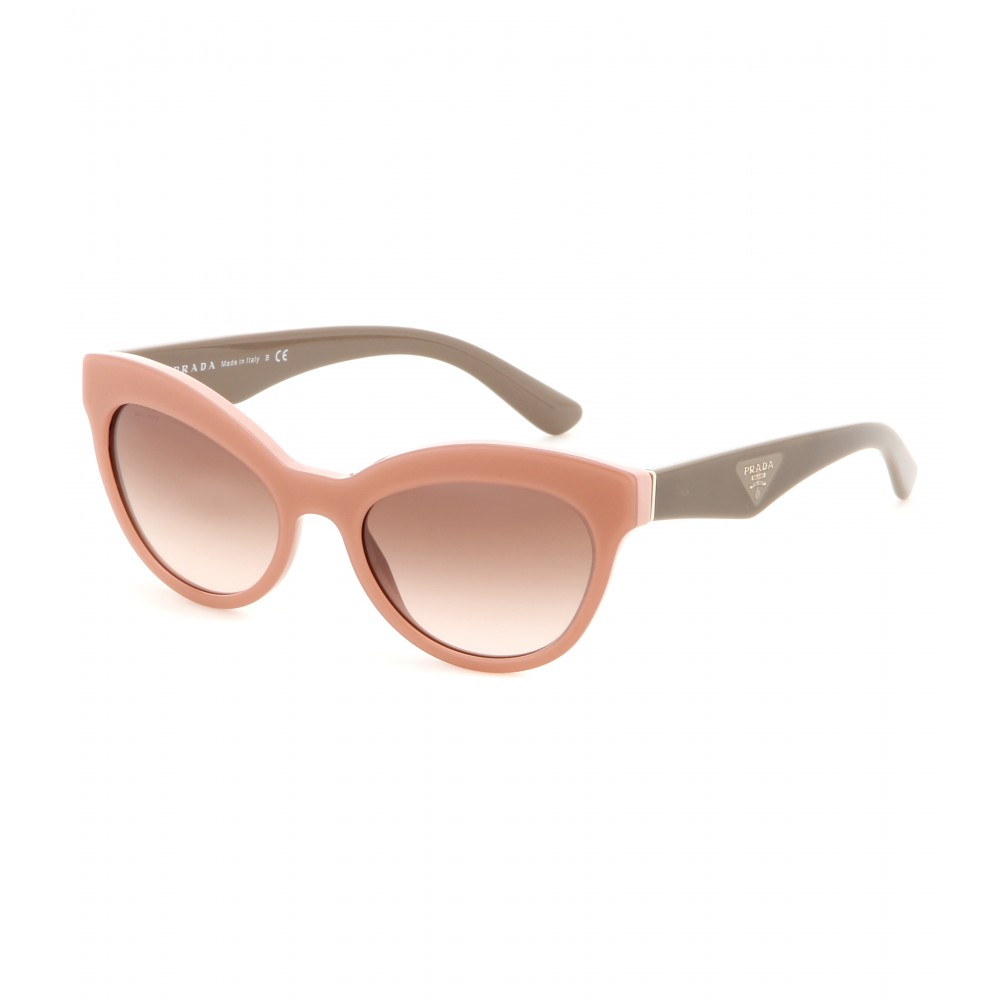 d565c38caa50 ... promo code lyst prada cat eye sunglasses in pink 7caf1 51946 ...