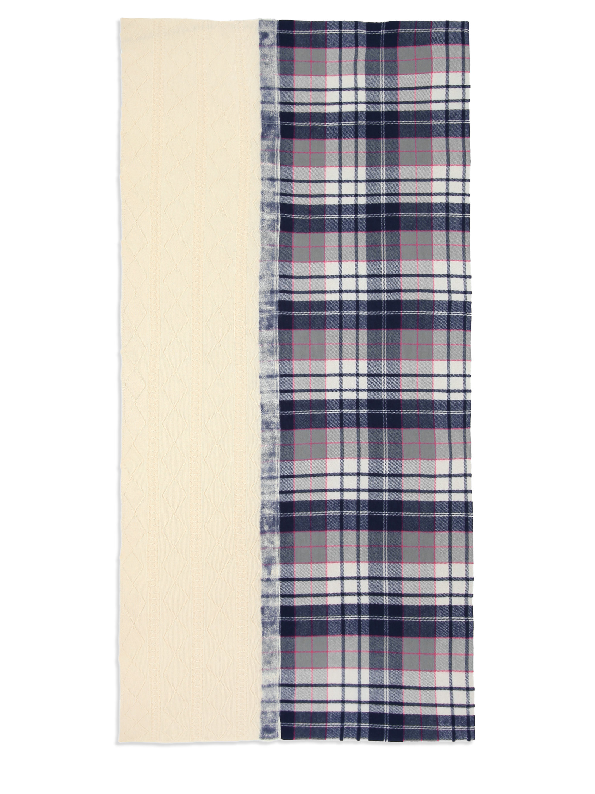 9bc01bd28d96 Lyst - Yarnz Tartan Grid Cashmere   Wool Blanket Scarf in Blue