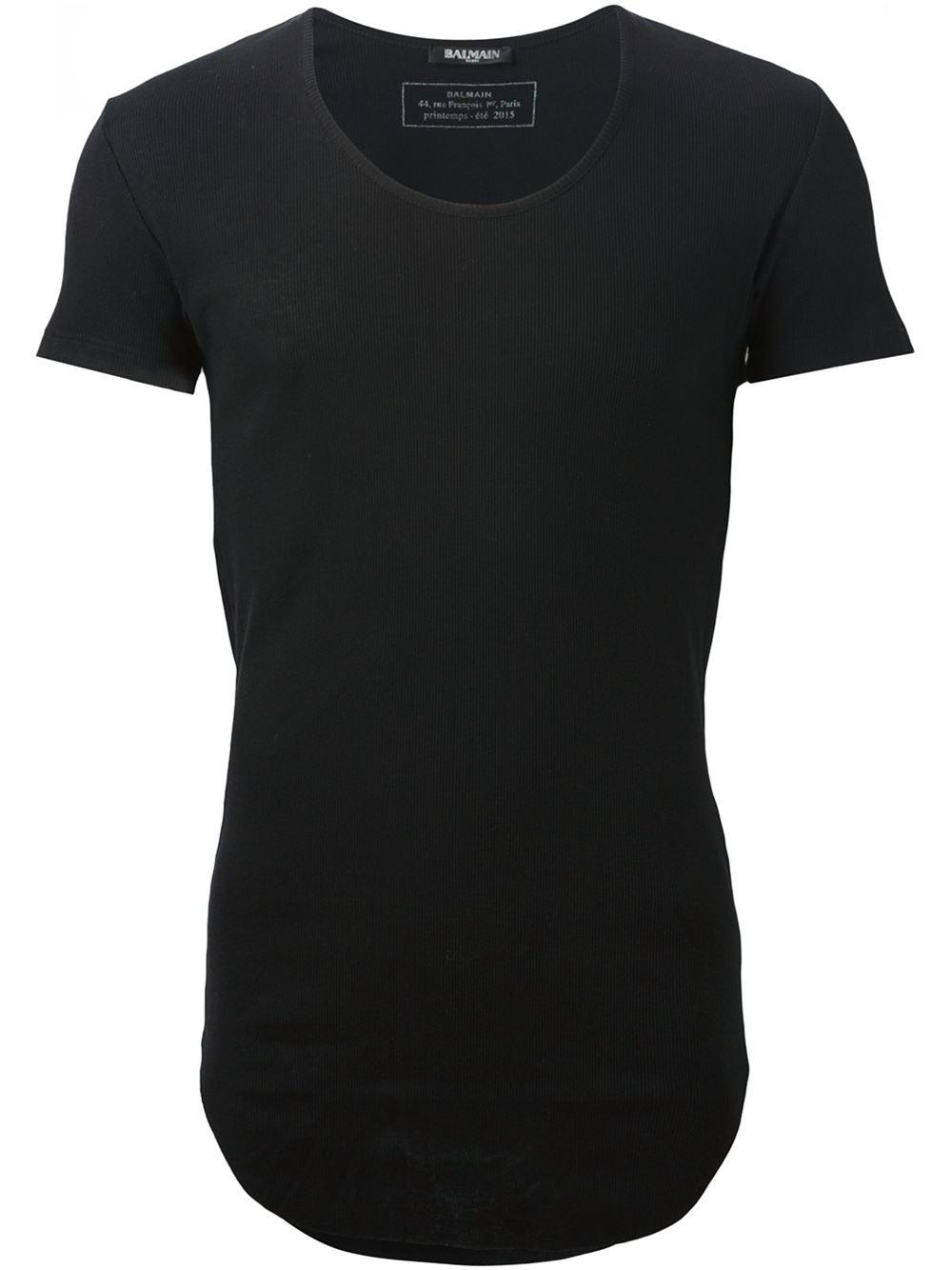 Lyst Balmain Slim Fit T Shirt In Black For Men