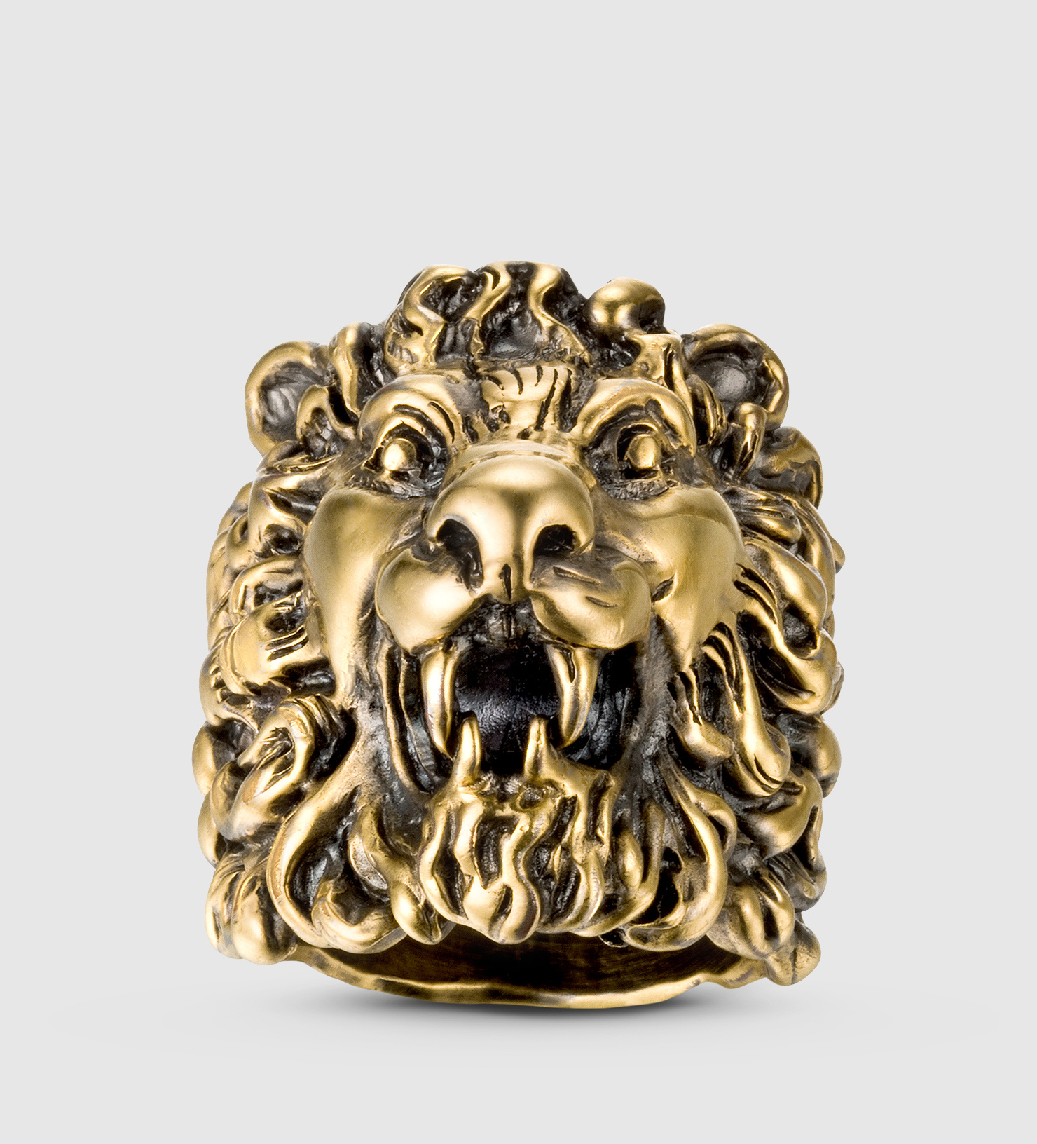 84dfb1d0b Gucci Lion Head Ring in Metallic for Men - Lyst