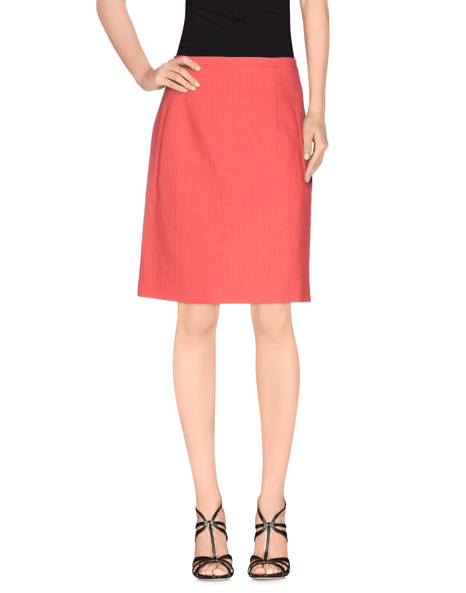 carven knee length skirt in pink lyst
