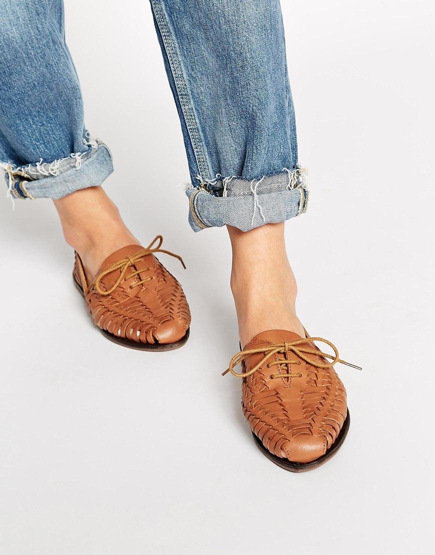 9c4669204e6e Brown In Summer Lyst Asos Jacobelle Leather Shoes Huarache cWqWPp7fw