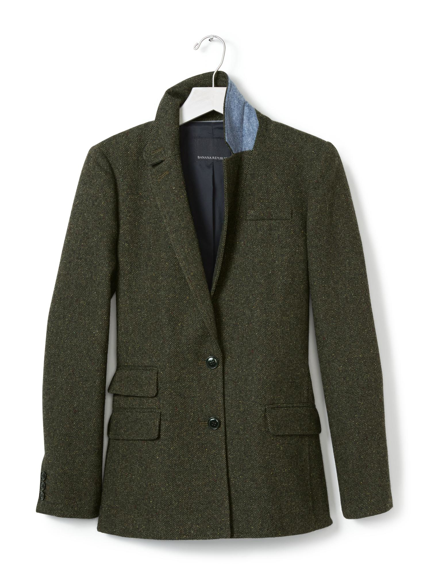 aa37dd20d7c7 Lyst - Banana Republic Speckled Olive Hacking Jacket in Green