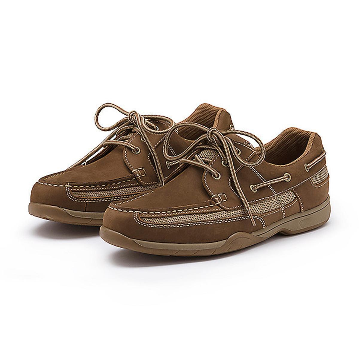 G H Bass Co Brown Leather Boat Shoes