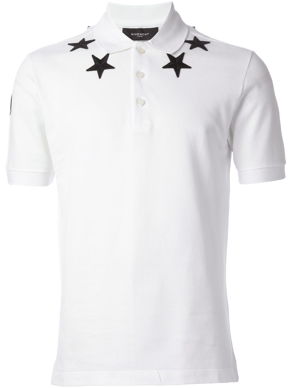 3a67c82f Givenchy Star Embroidered Polo Shirt in White for Men - Lyst