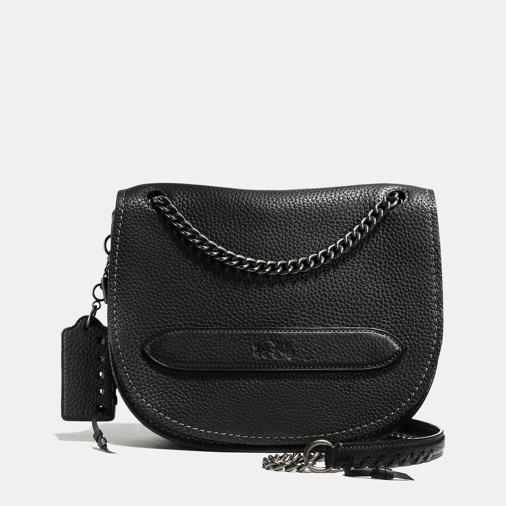 Coach Shadow Crossbody In Pebble Leather In Black Lyst