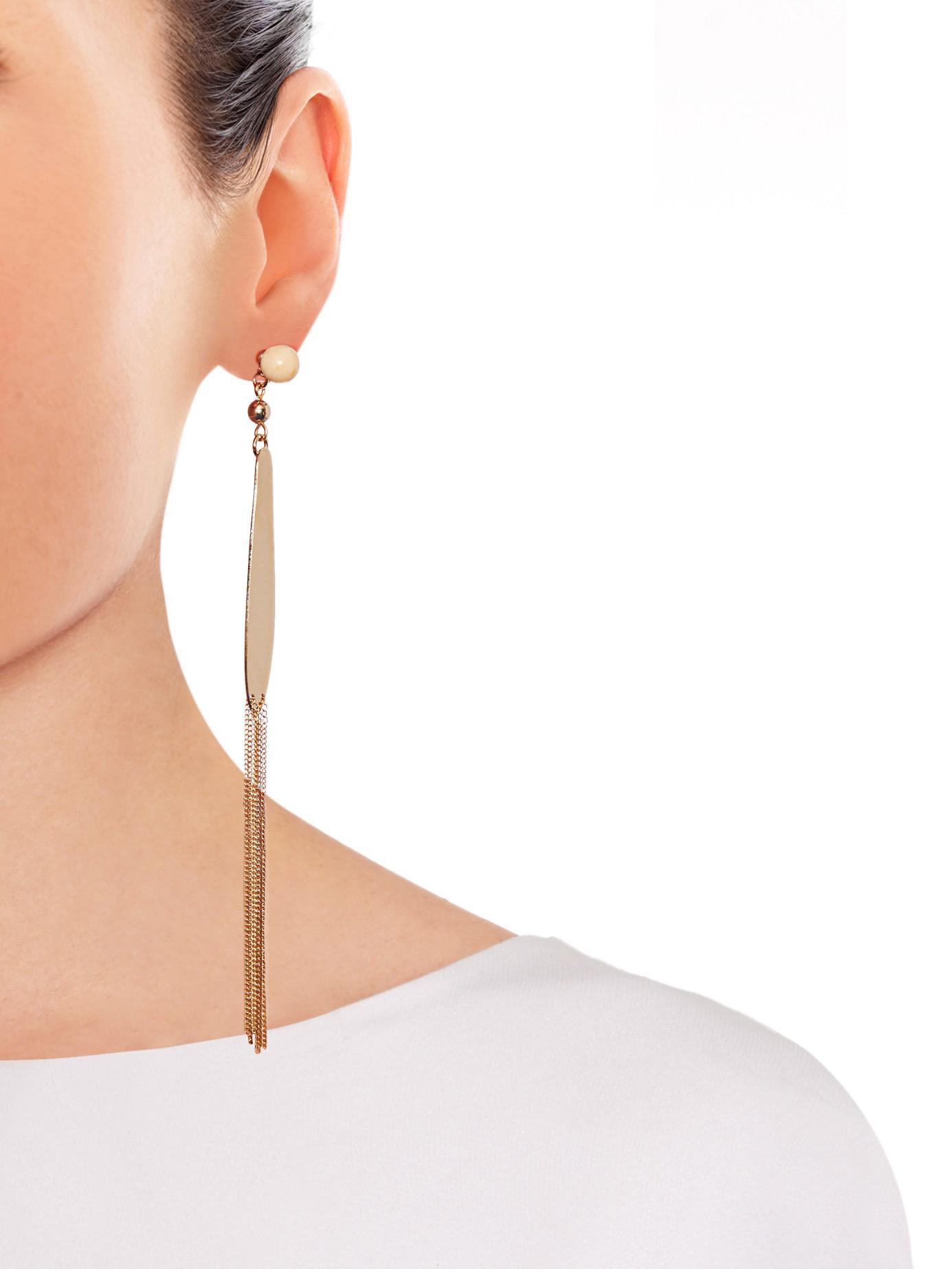 ff277560ef Isabel Marant Dancing In Drop Earrings in Metallic - Lyst