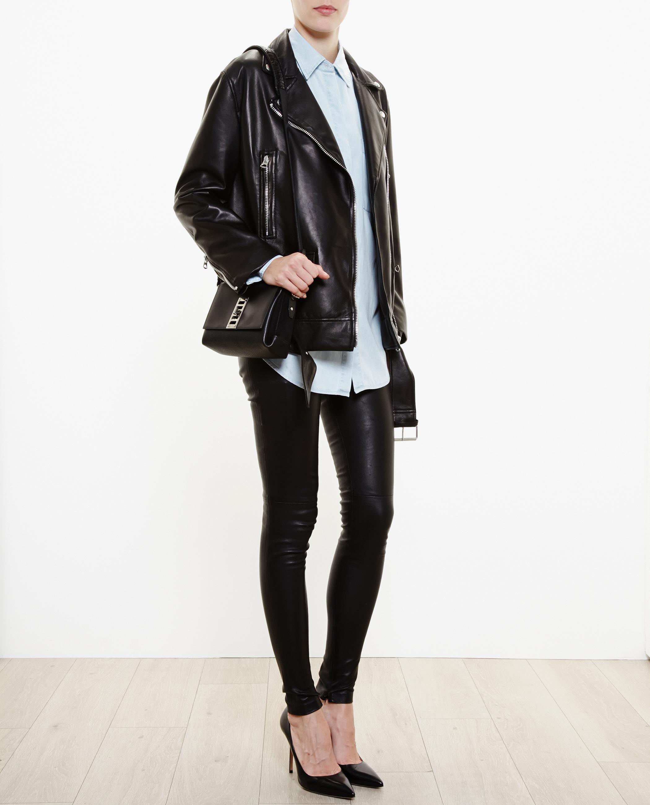 9e21279bd Acne Studios Black Oversized Leather Jacket
