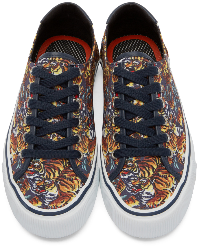 4c6cc7fd KENZO Blue Navy Flying Tiger Sneakers for men