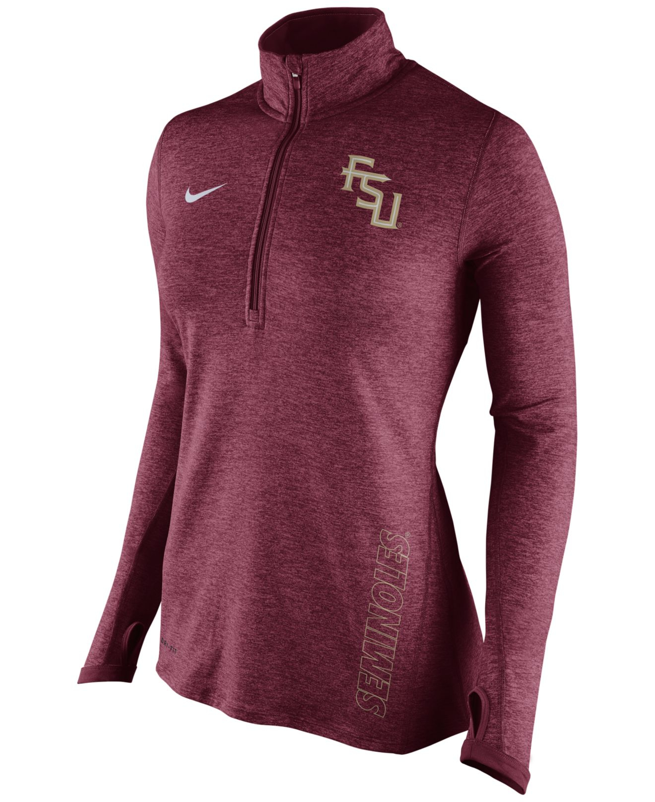 Nike Women's Florida State Seminoles Stadium Element Quarter-zip ...