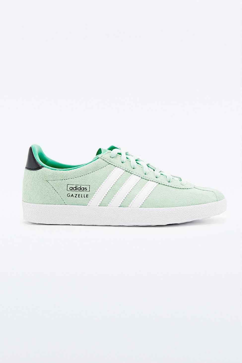 adidas gazelle trainers in mint in green lyst. Black Bedroom Furniture Sets. Home Design Ideas