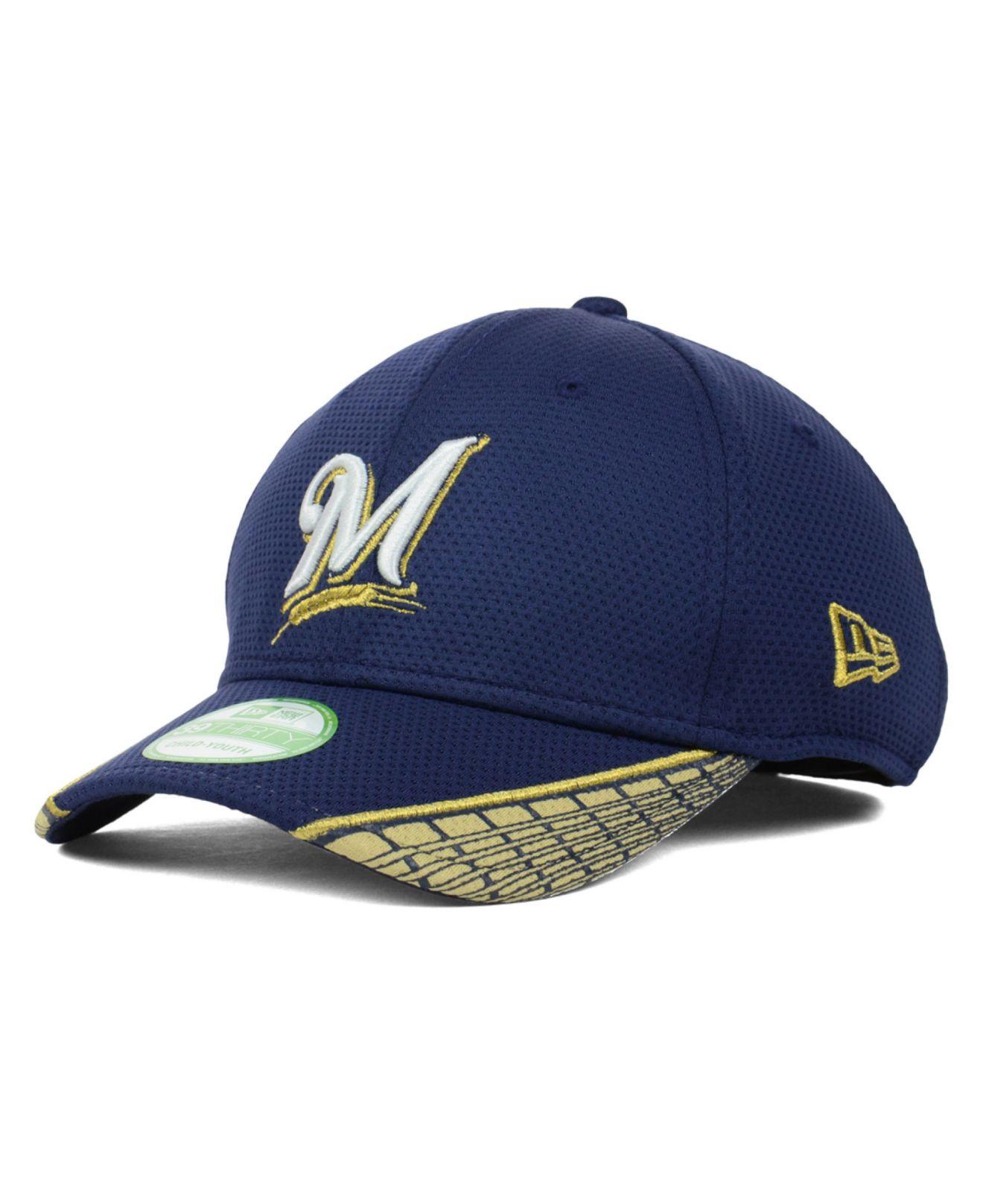 Lyst - Ktz Kids Milwaukee Brewers Vertical Strike 39thirty Cap in ... a49a299c0134