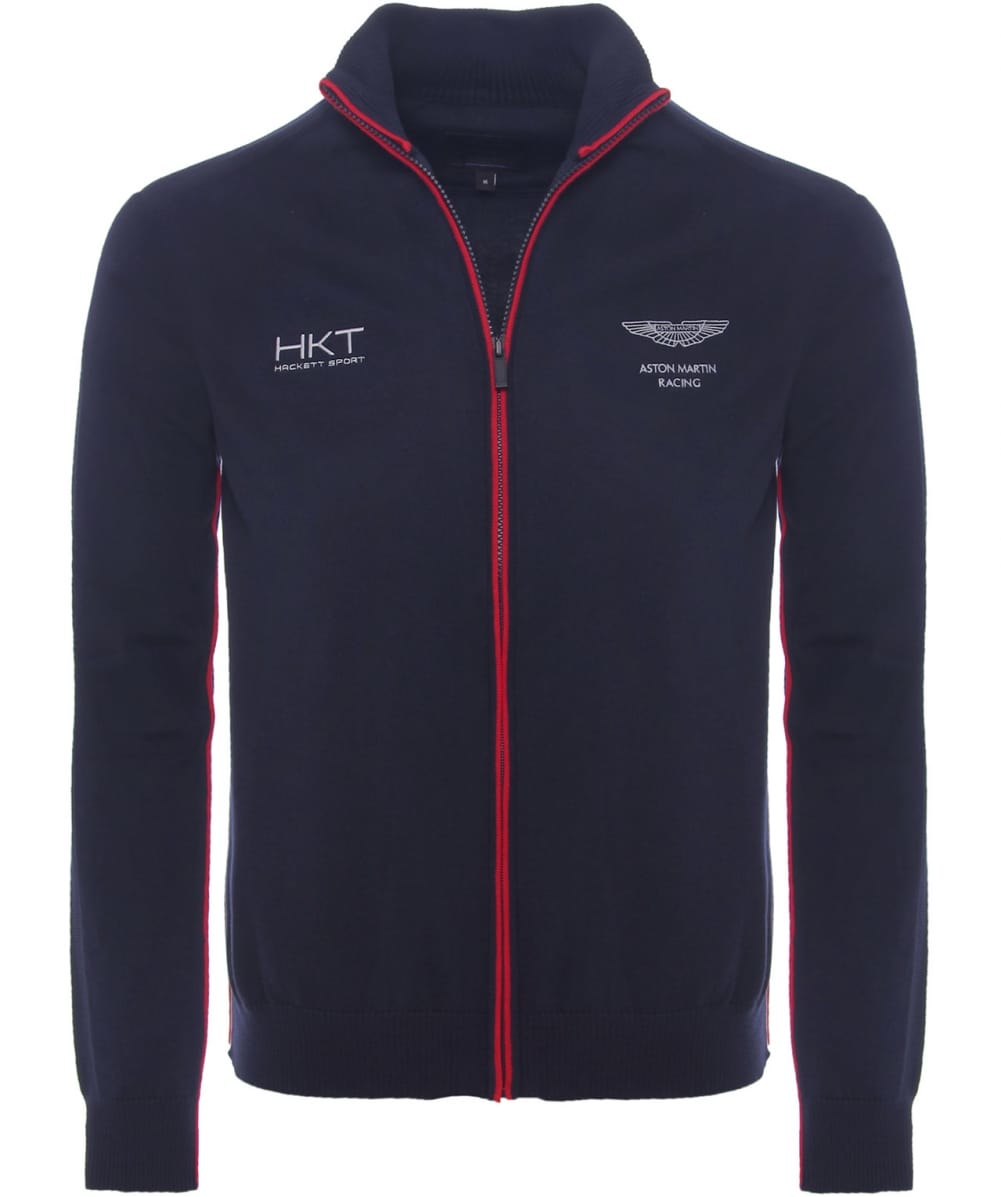 lyst hackett aston martin racing jersey jacket in blue. Black Bedroom Furniture Sets. Home Design Ideas
