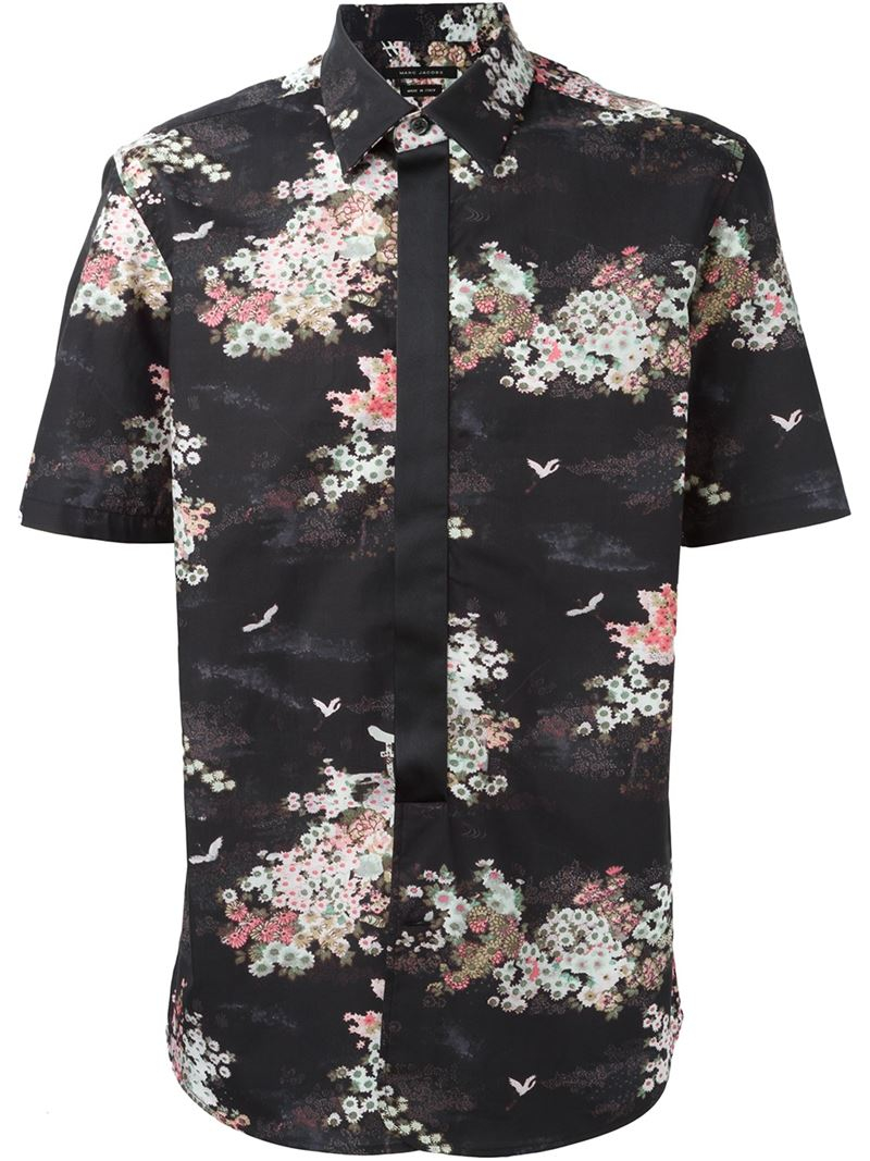 Lyst - Marc jacobs Floral Print Shirt in Black for Men