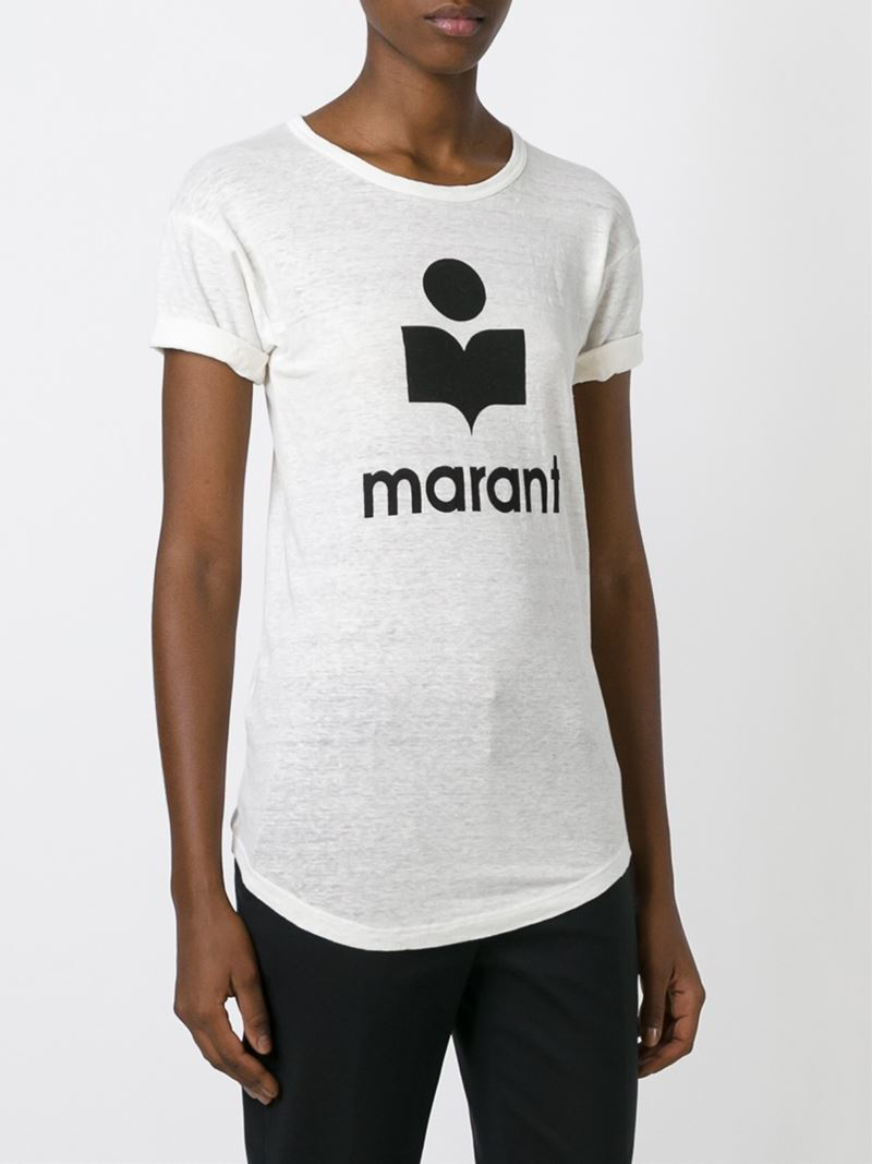 Toile isabel marant 39 koldi 39 t shirt in white lyst for Isabel marant t shirt sale