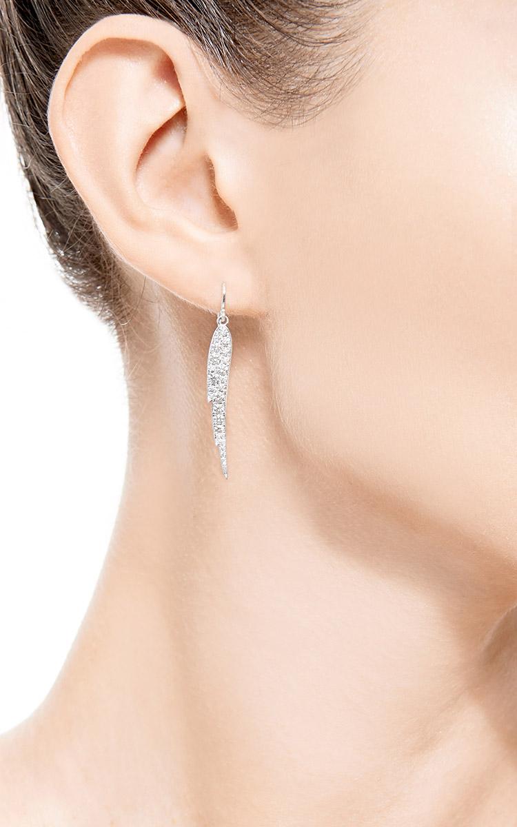 Small Diamond Angel Wing Earrings