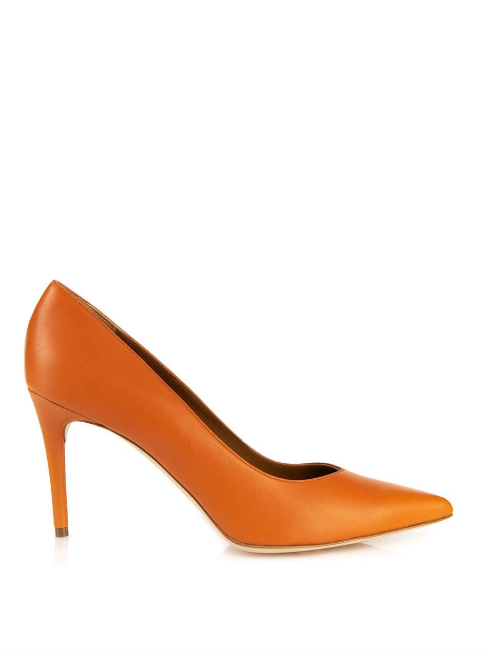 Malone souliers Brenda Leather Pumps in Orange