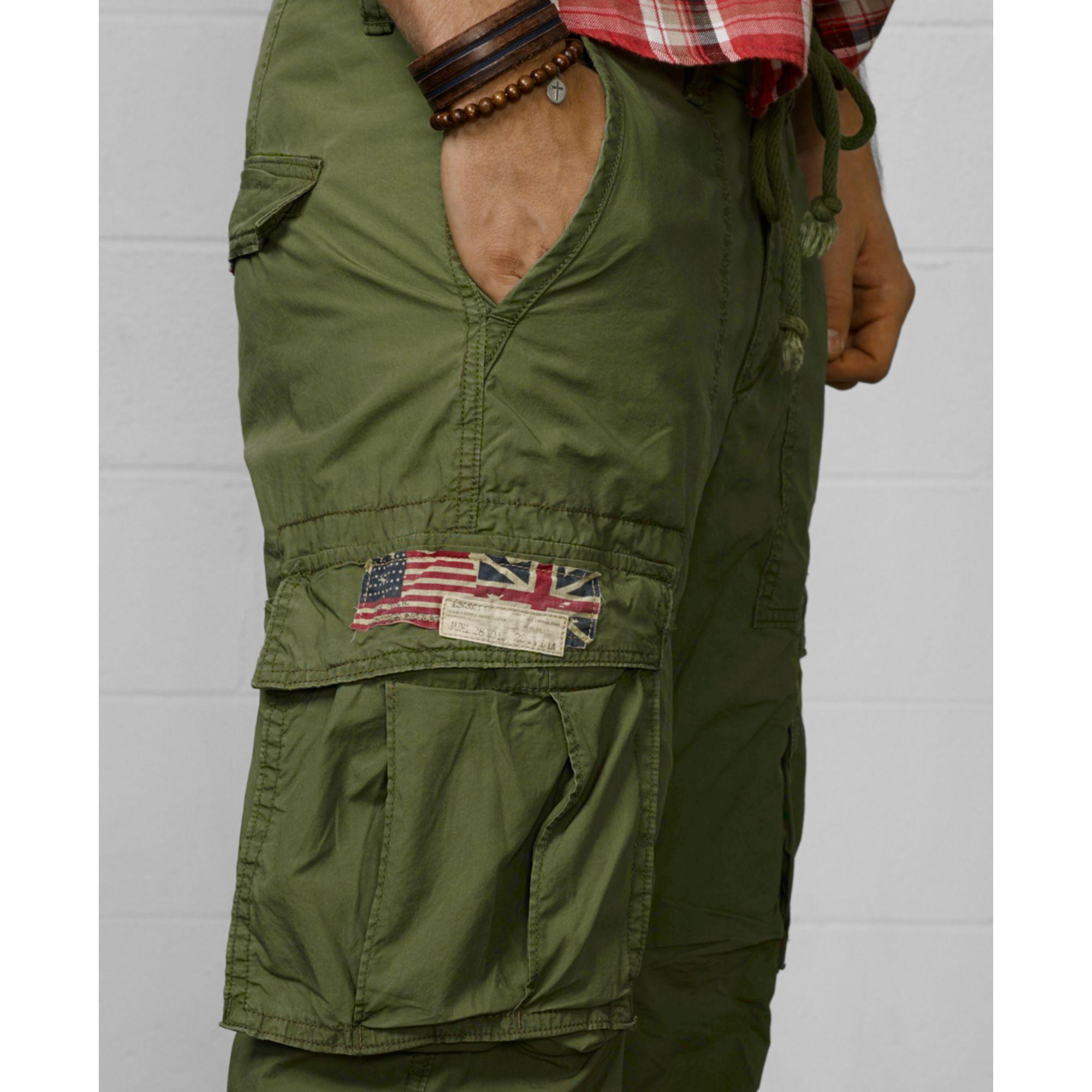 00646dedff Denim & Supply Ralph Lauren Slimfit Poplin Cargo Pants in Green for ...