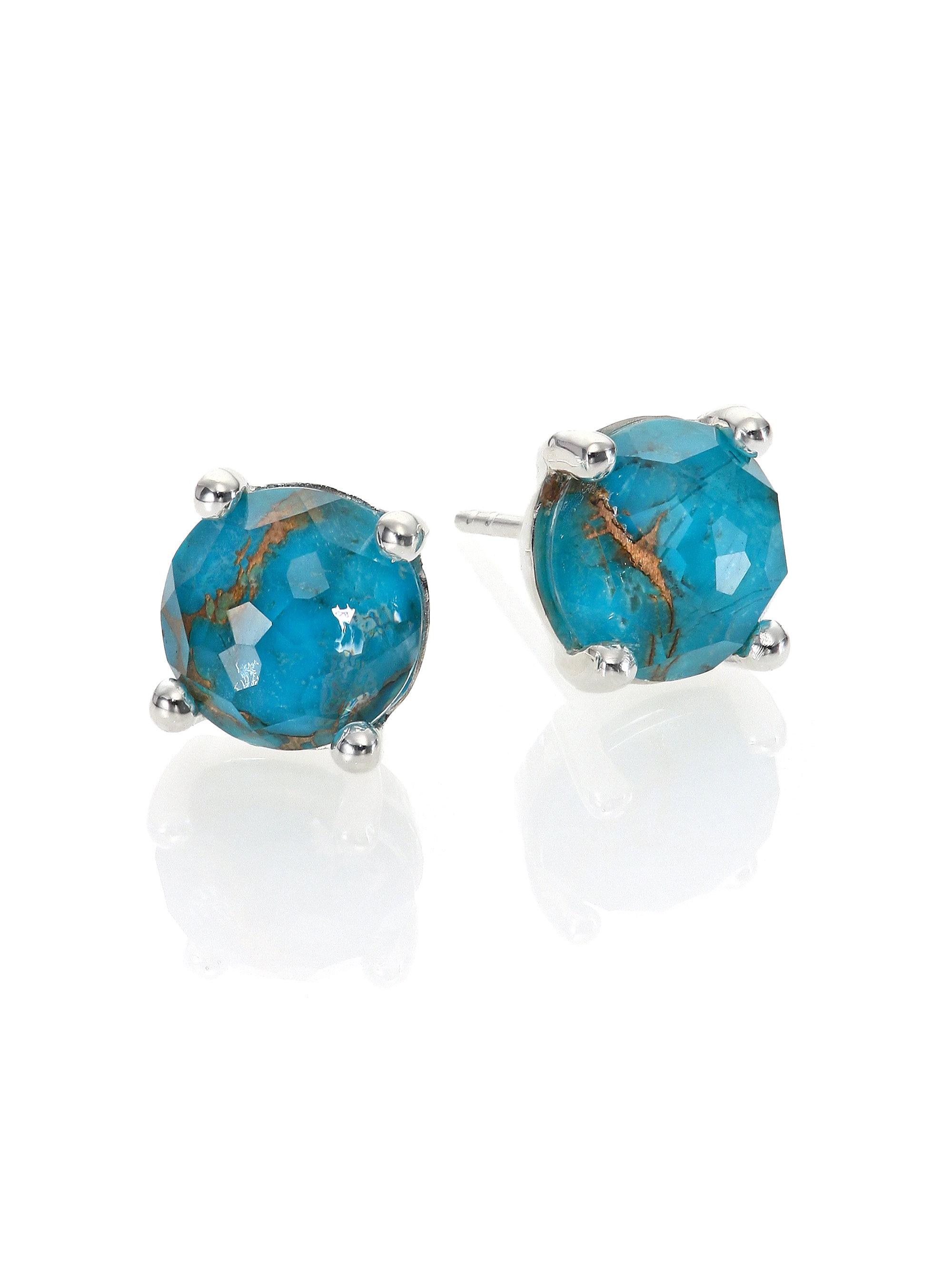 Ippolita Rock Candy Turquoise Stud Earrings IMcTjR