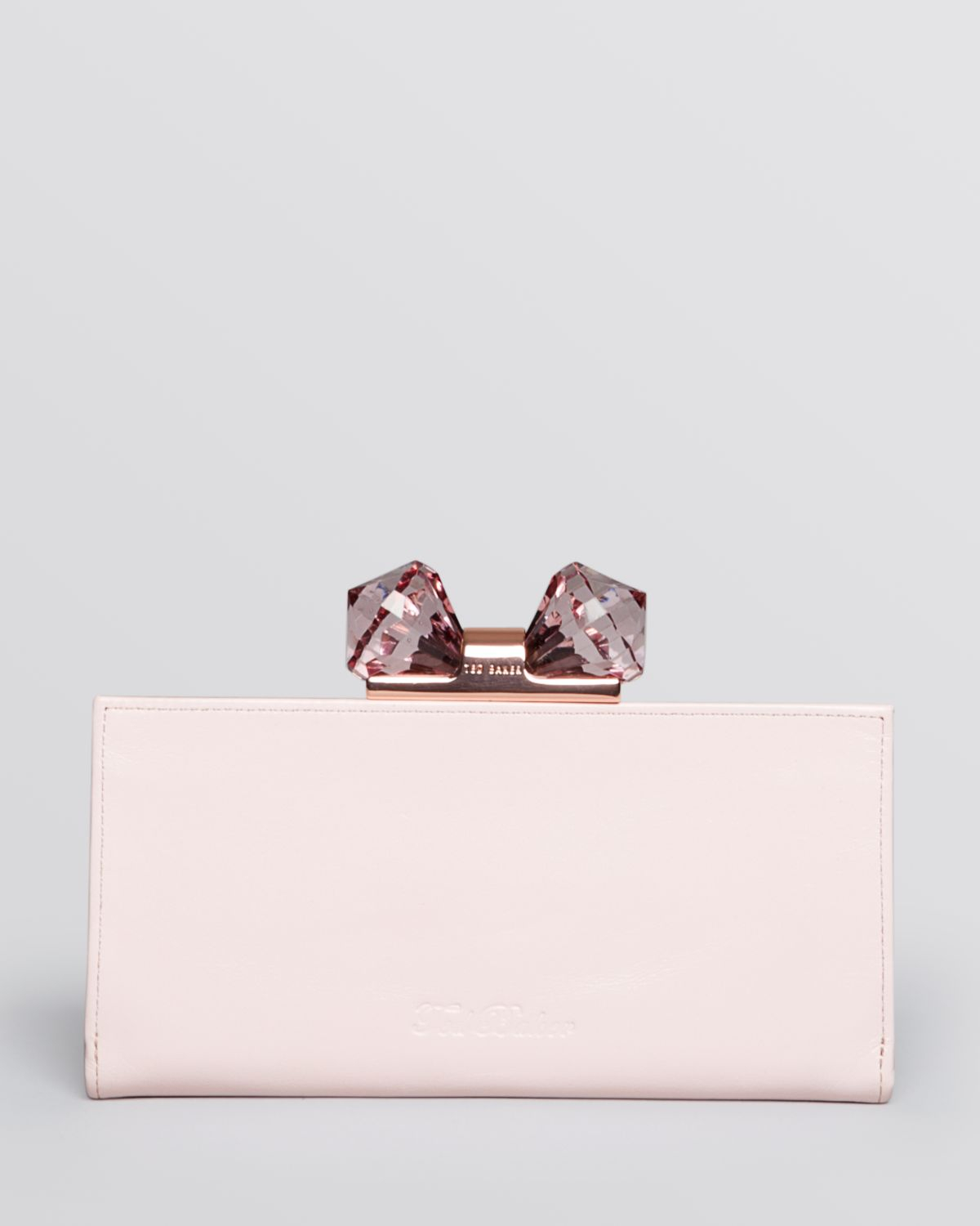 f5ee3d58713f92 Ted Baker Black Crystal Bow Leather Matinee Purse - Best Purse Image ...