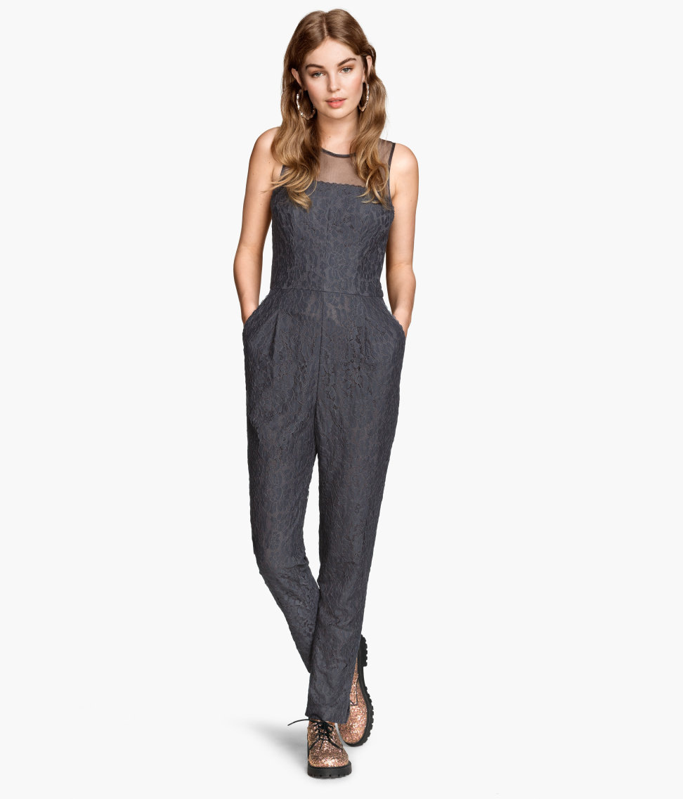 Jumpsuit Lacy in Grey.