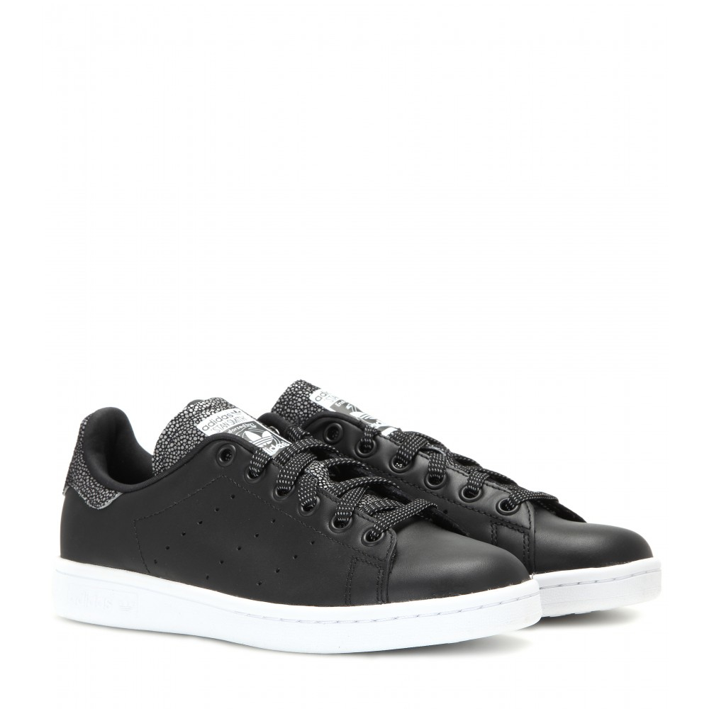 Lyst Adidas Stan Smith Leather Sneakers In Black