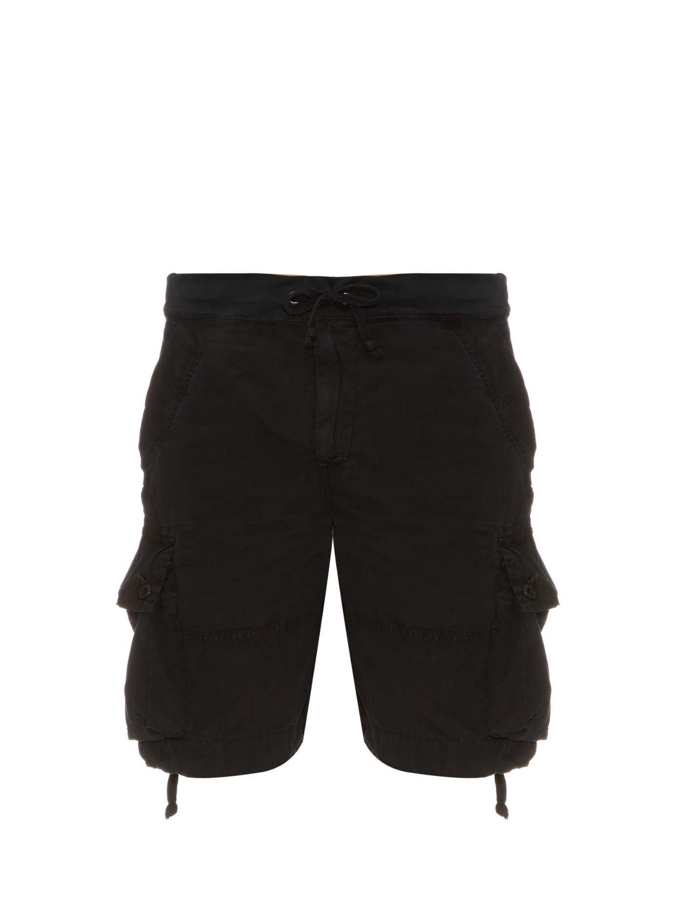 db3738c15b Polo Ralph Lauren Brushed-cotton Cargo Shorts in Black for Men - Lyst