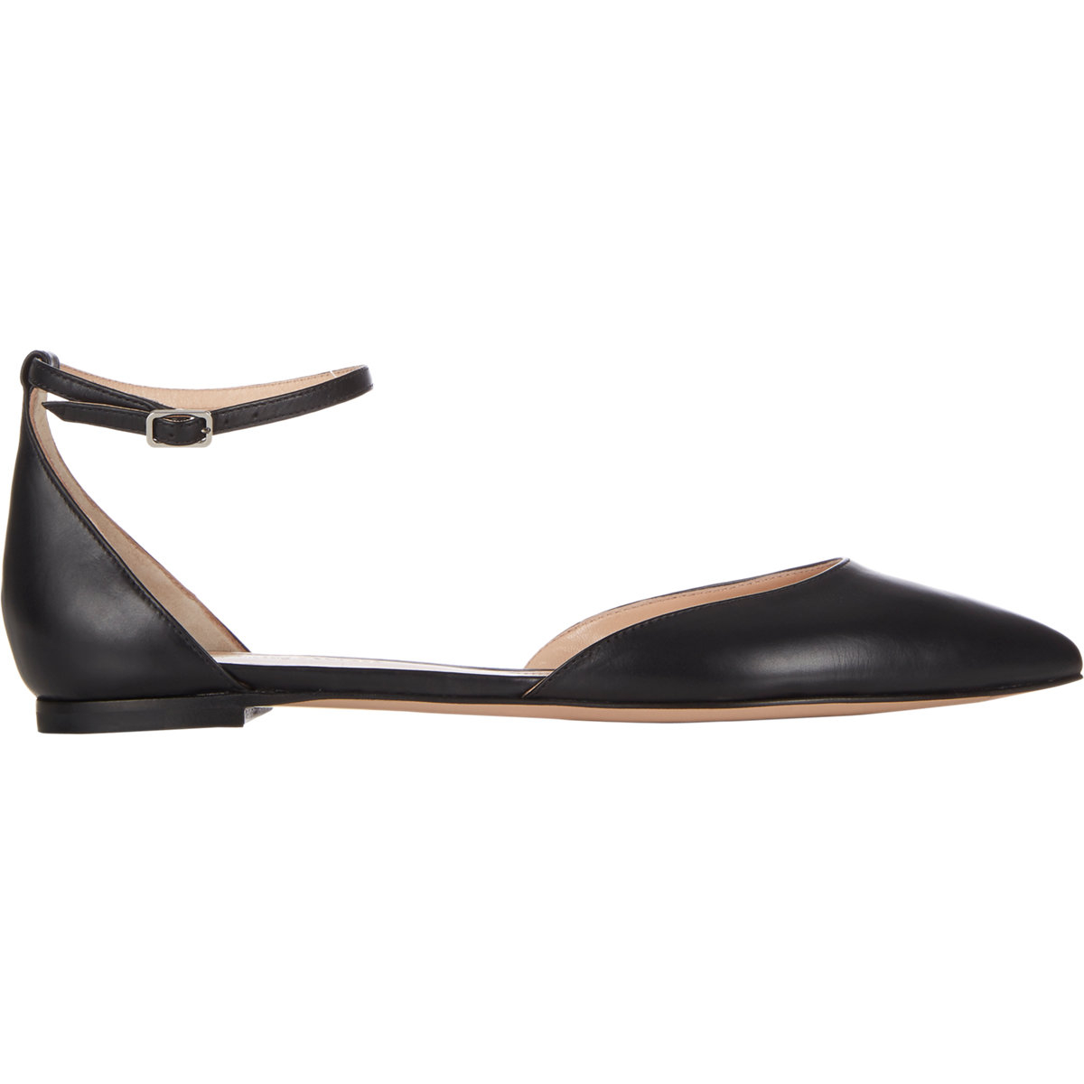 4d38142250b Lyst - Gianvito Rossi Women s Ankle-strap D orsay Flats in Black