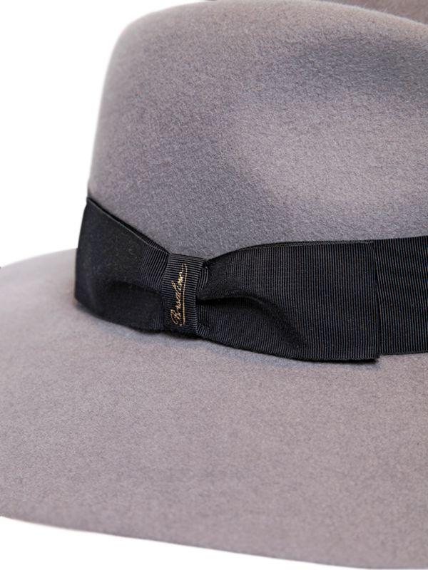 be446f50f82 Lyst - Borsalino Lapin Fur Felt Wide Brim Hat in Gray