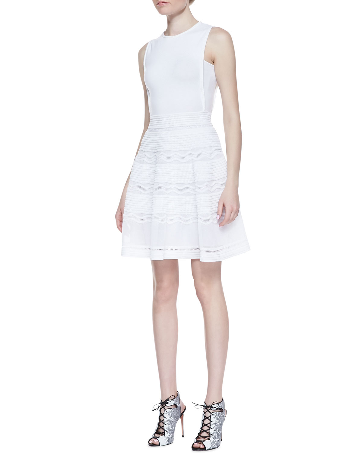 wrap flared dress - White M Missoni pnKVu0Du