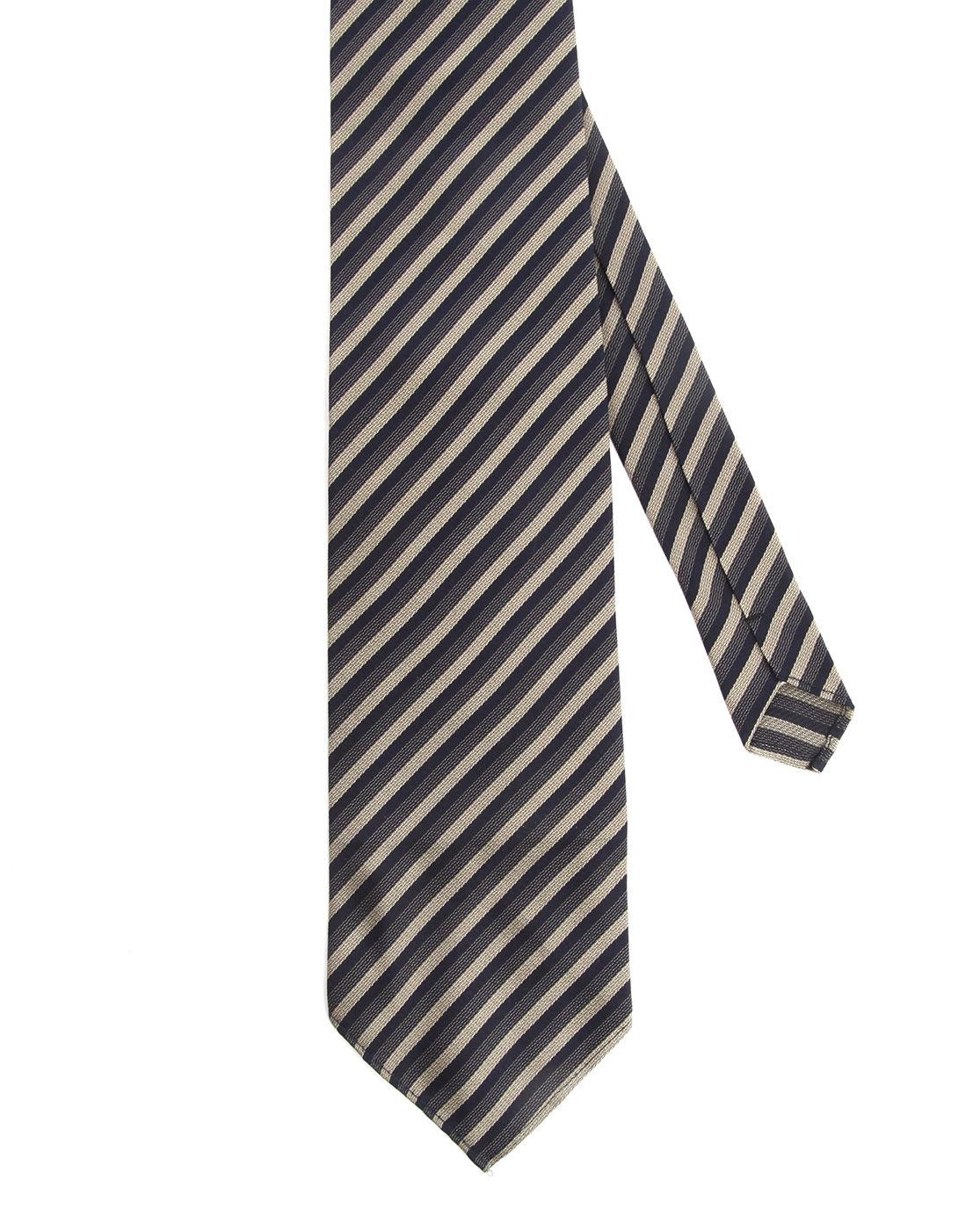 Atelier scotch striped silk tie in gold for men lyst for Atelier maison scotch