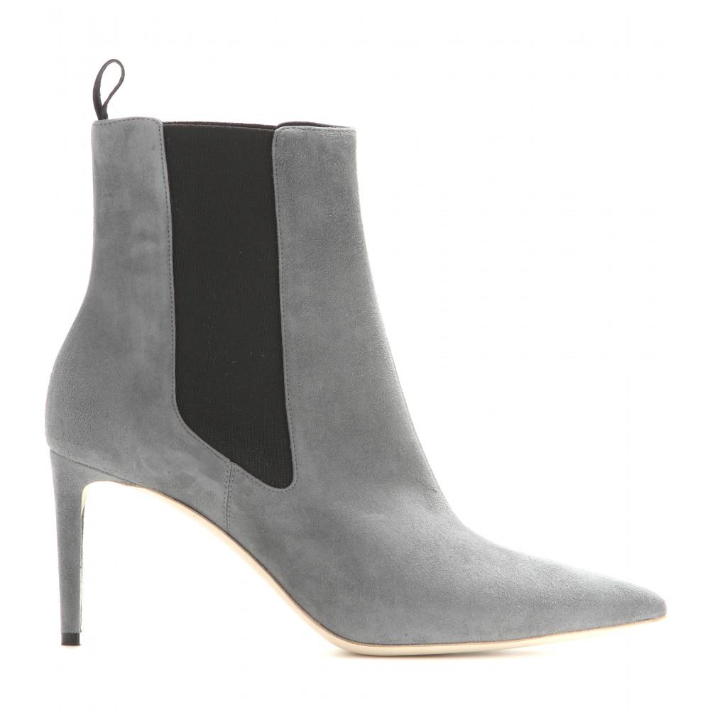 3a1314acb4a7 Grey Suede Balenciaga Shoes