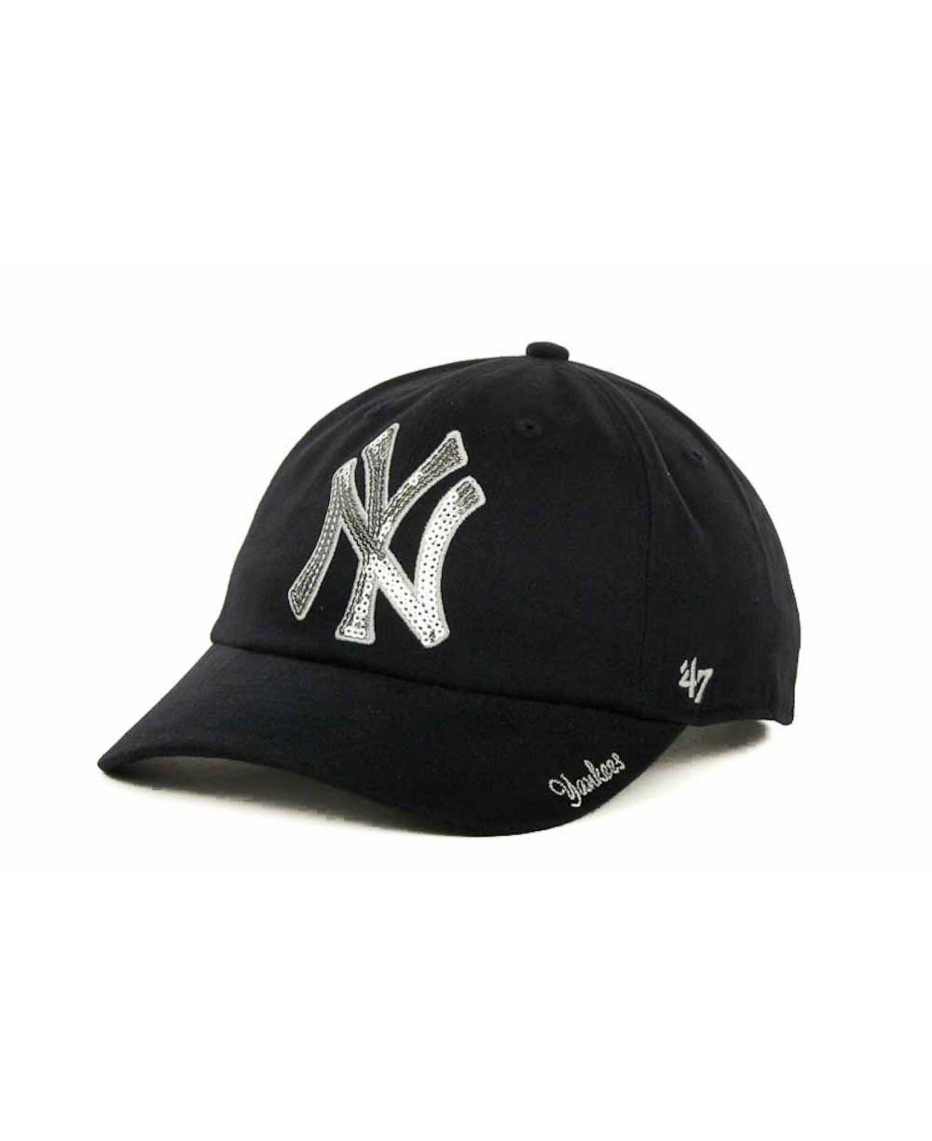25c34cfdd54 Lyst - 47 Brand Women s New York Yankees Sparkle Cap in Blue
