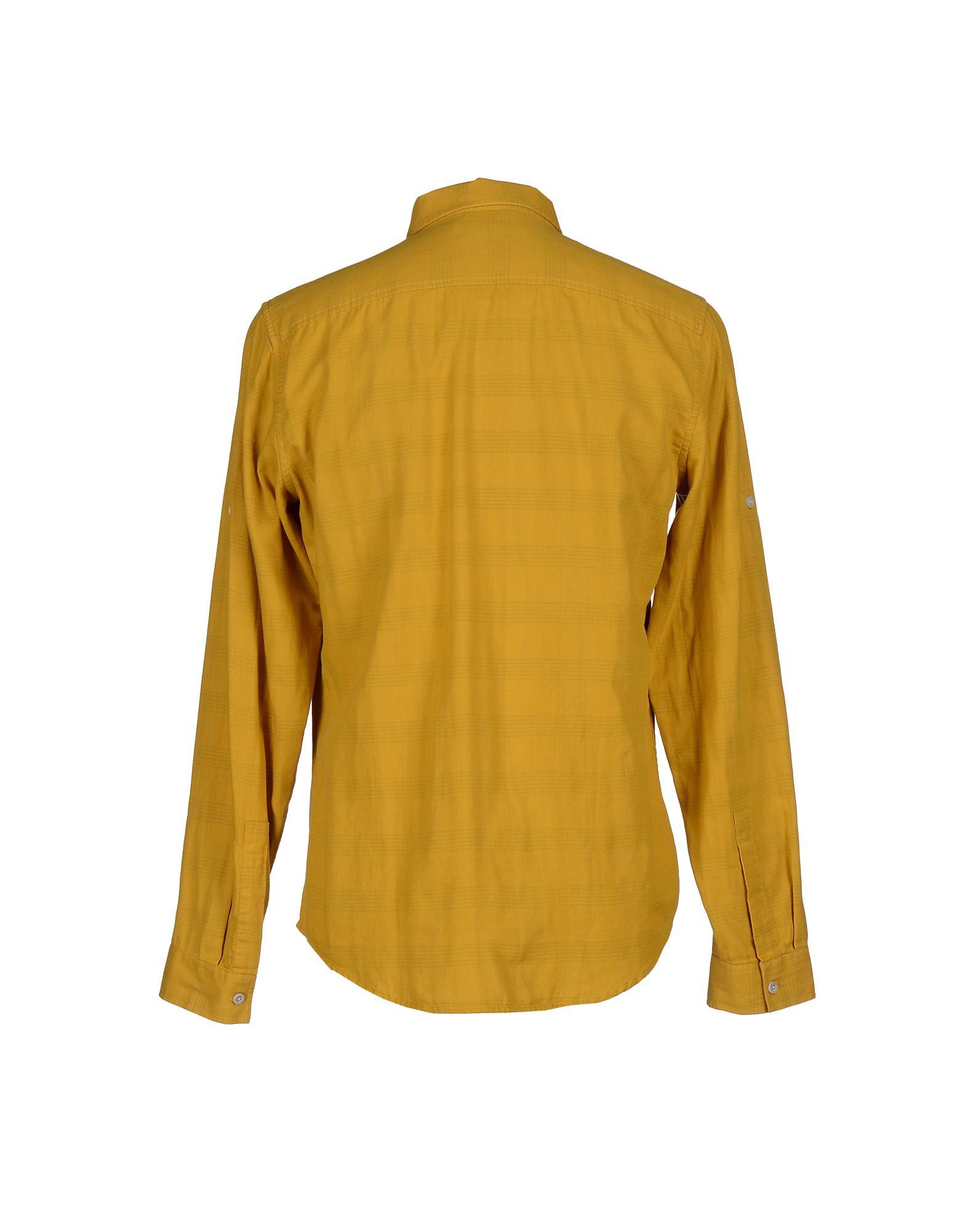 calvin klein jeans shirt in yellow for men ocher lyst. Black Bedroom Furniture Sets. Home Design Ideas