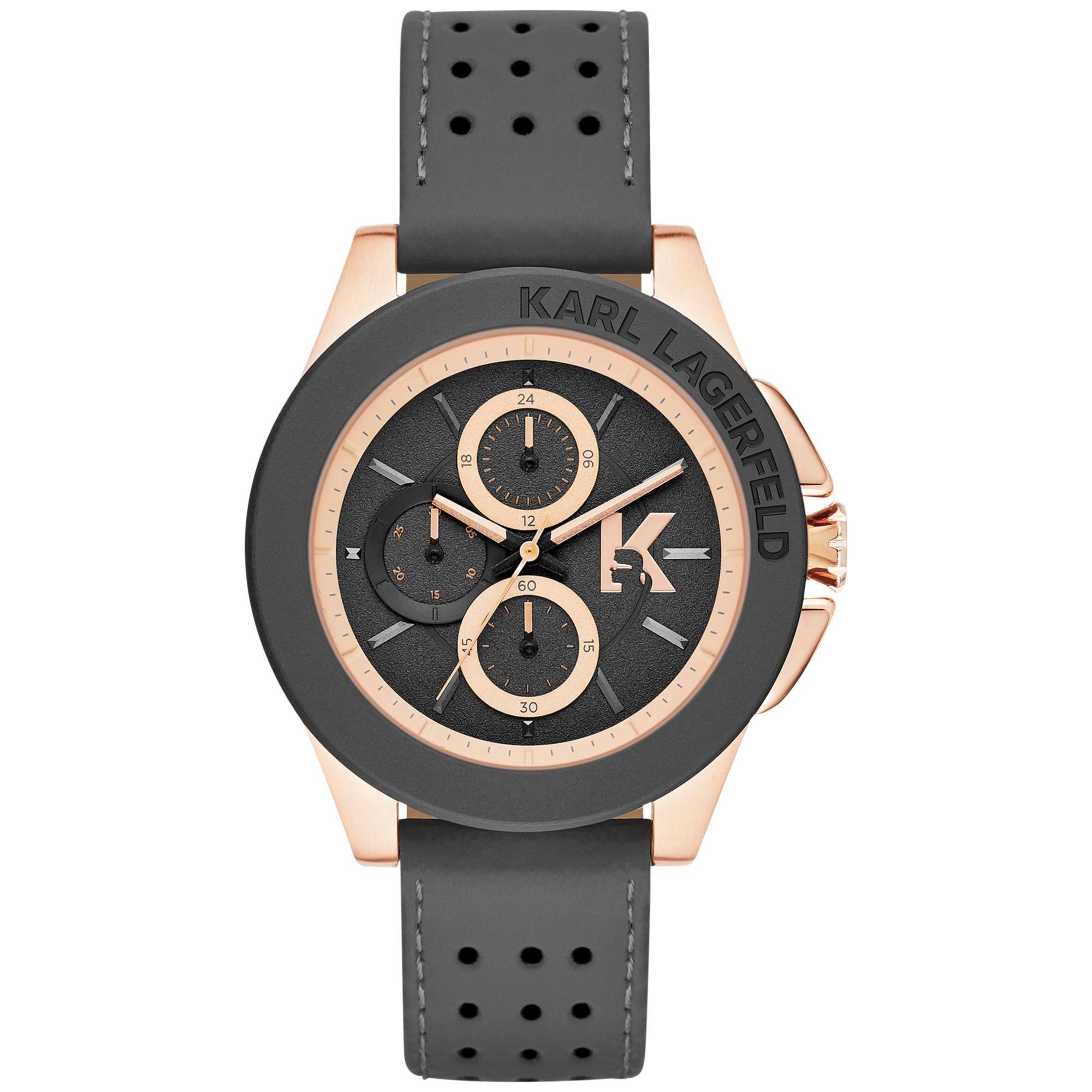 karl lagerfeld unisex chronograph karl energy gray