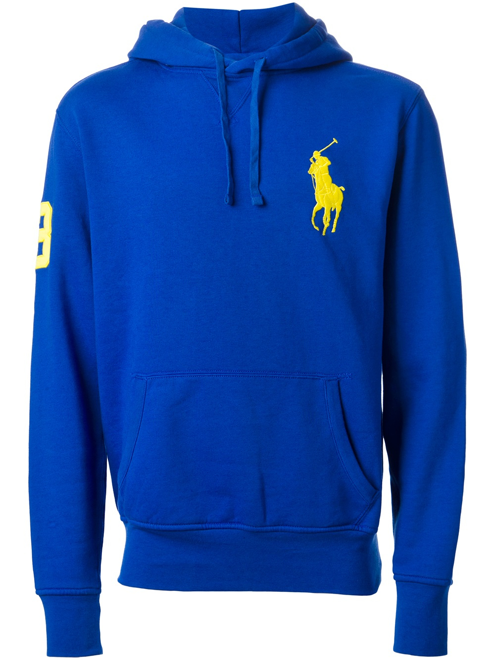 lyst polo ralph lauren logo detail hoodie in blue for men. Black Bedroom Furniture Sets. Home Design Ideas