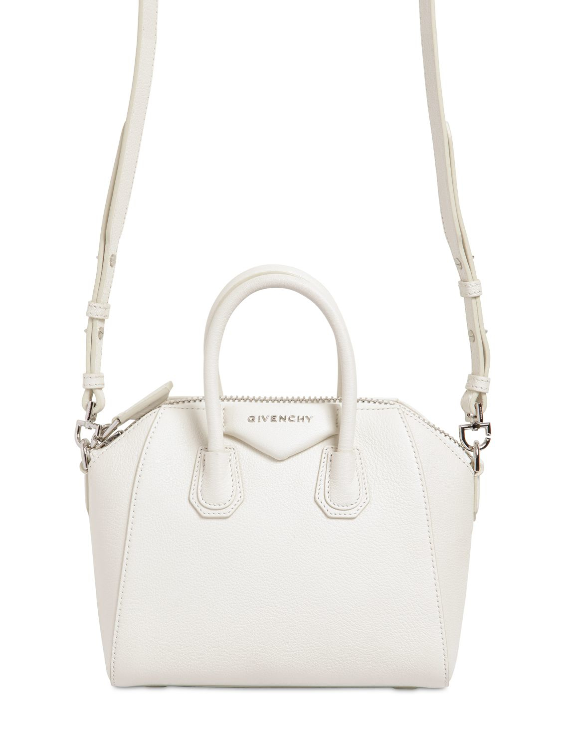 cd4a9c1848 Givenchy Mini Antigona Grained Leather Top Handle in White - Lyst