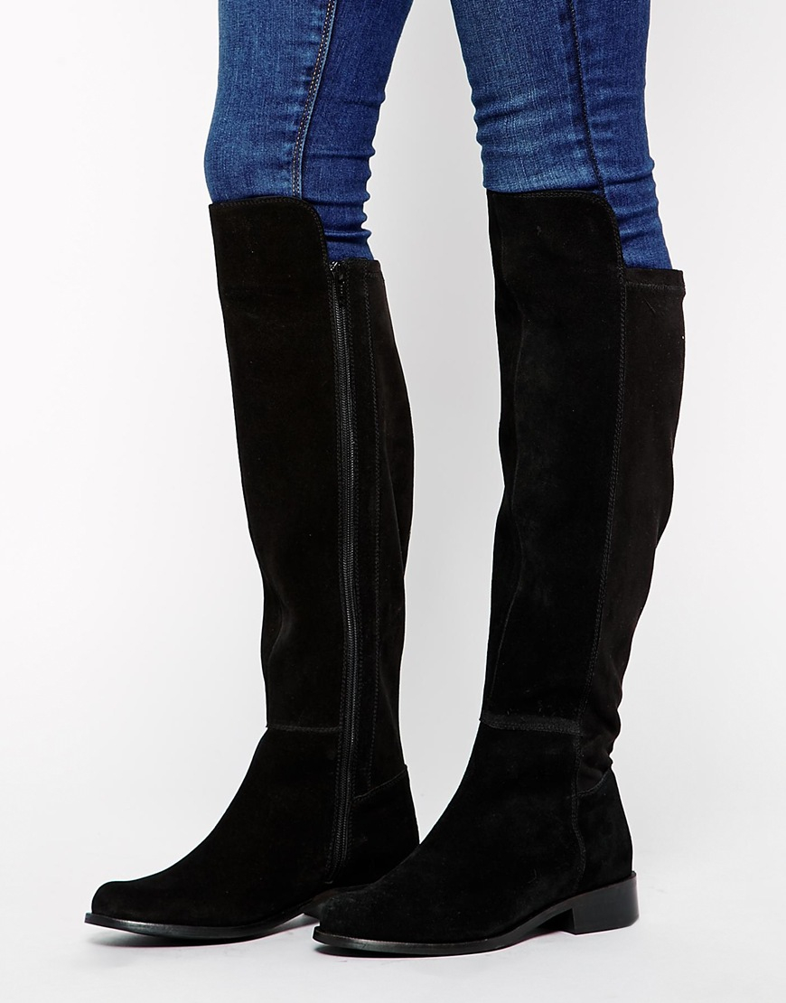Fit Suede Boots Over Hole The Wide Key Knee drQhtsC