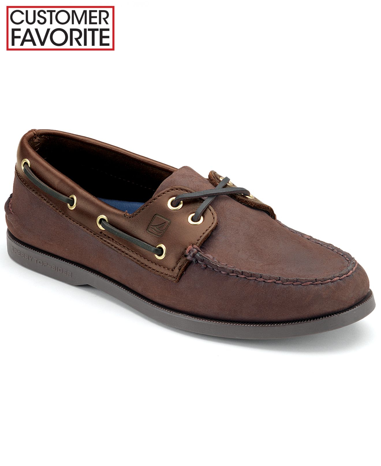 Sperry Top Sider Authentic Original A O Boat Shoes Brown Buck