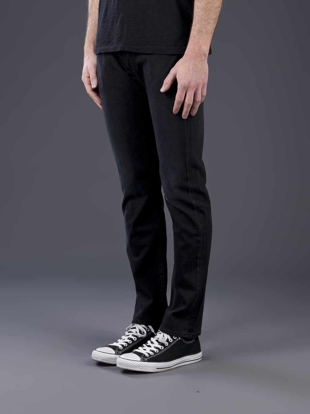 Slim Fit Jeans Black - Jeans Am