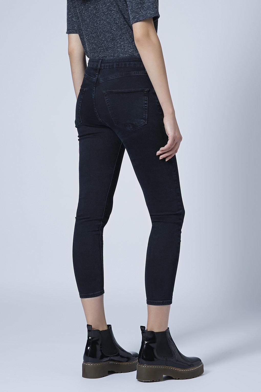 topshop petite moto blue black wash jamie jeans in blue. Black Bedroom Furniture Sets. Home Design Ideas