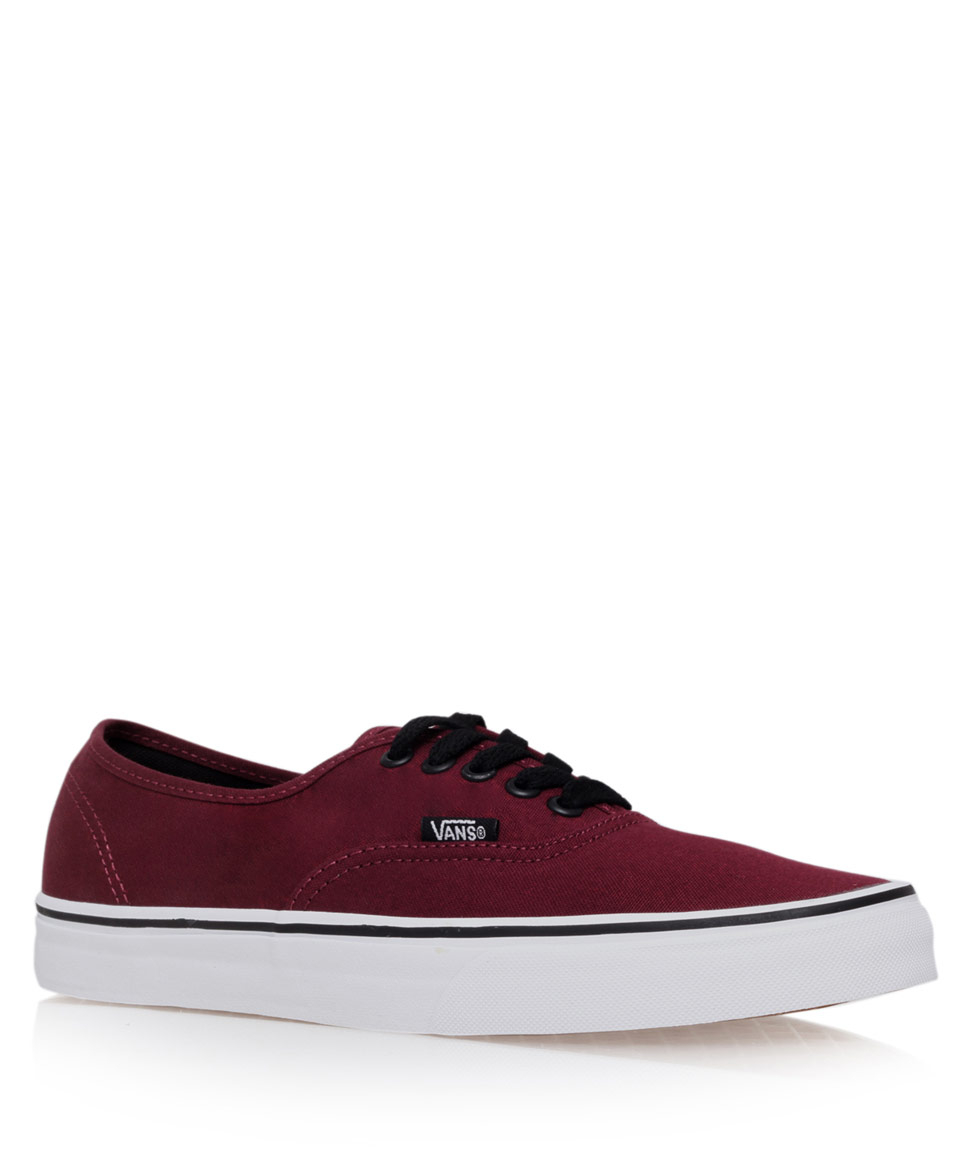 2ac4e1c43265b7 Lyst - Vans Burgundy Authentic Classic Contrast Canvas Skate Shoes ...