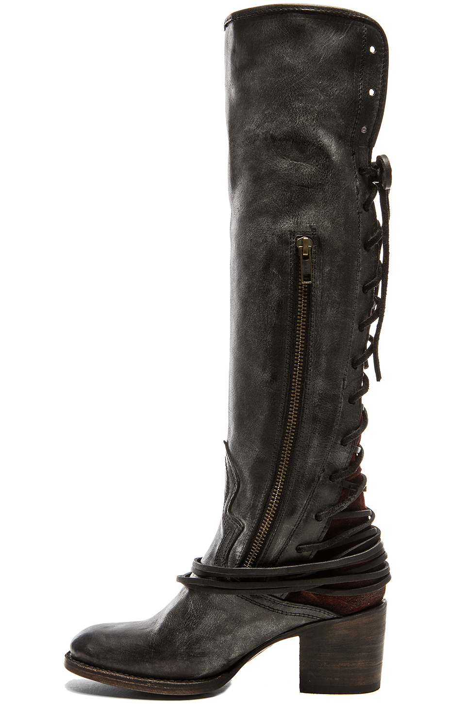 Lyst - Freebird By Steven Coal Leather Boots in Black