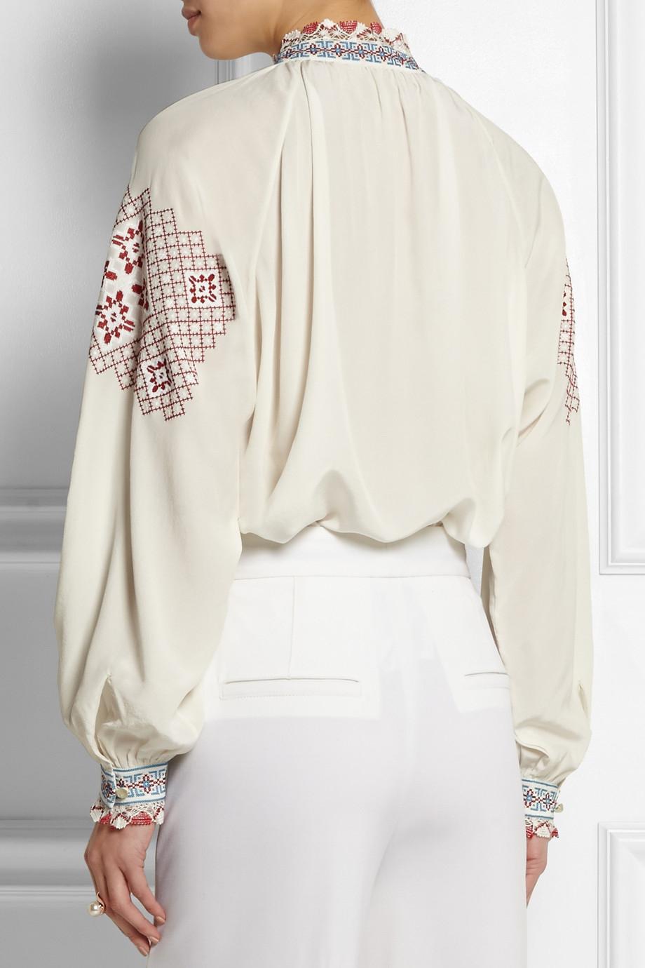 Vilshenko Woman Cold-shoulder Floral-print Silk Crepe De Chine Blouse Black Size 10 VILSHENKO Excellent Cheap Online Best Seller Online 6GijzcUNQx