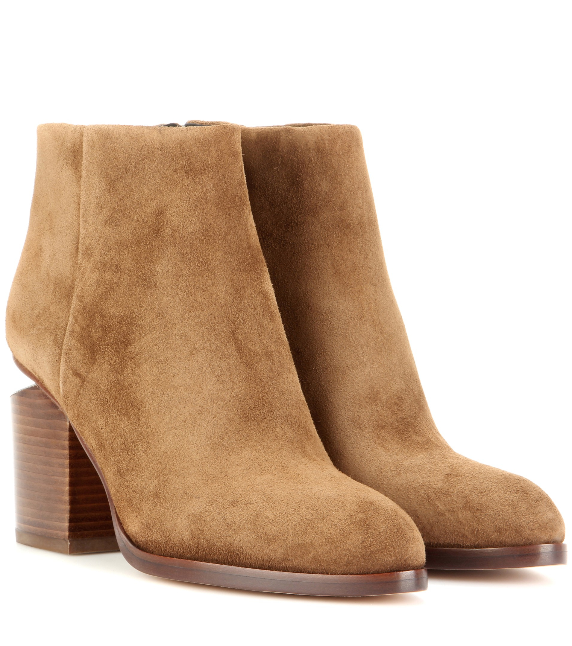 c6a90ddee1c0 Alexander Wang Gabi Suede Ankle Boots in Brown - Lyst