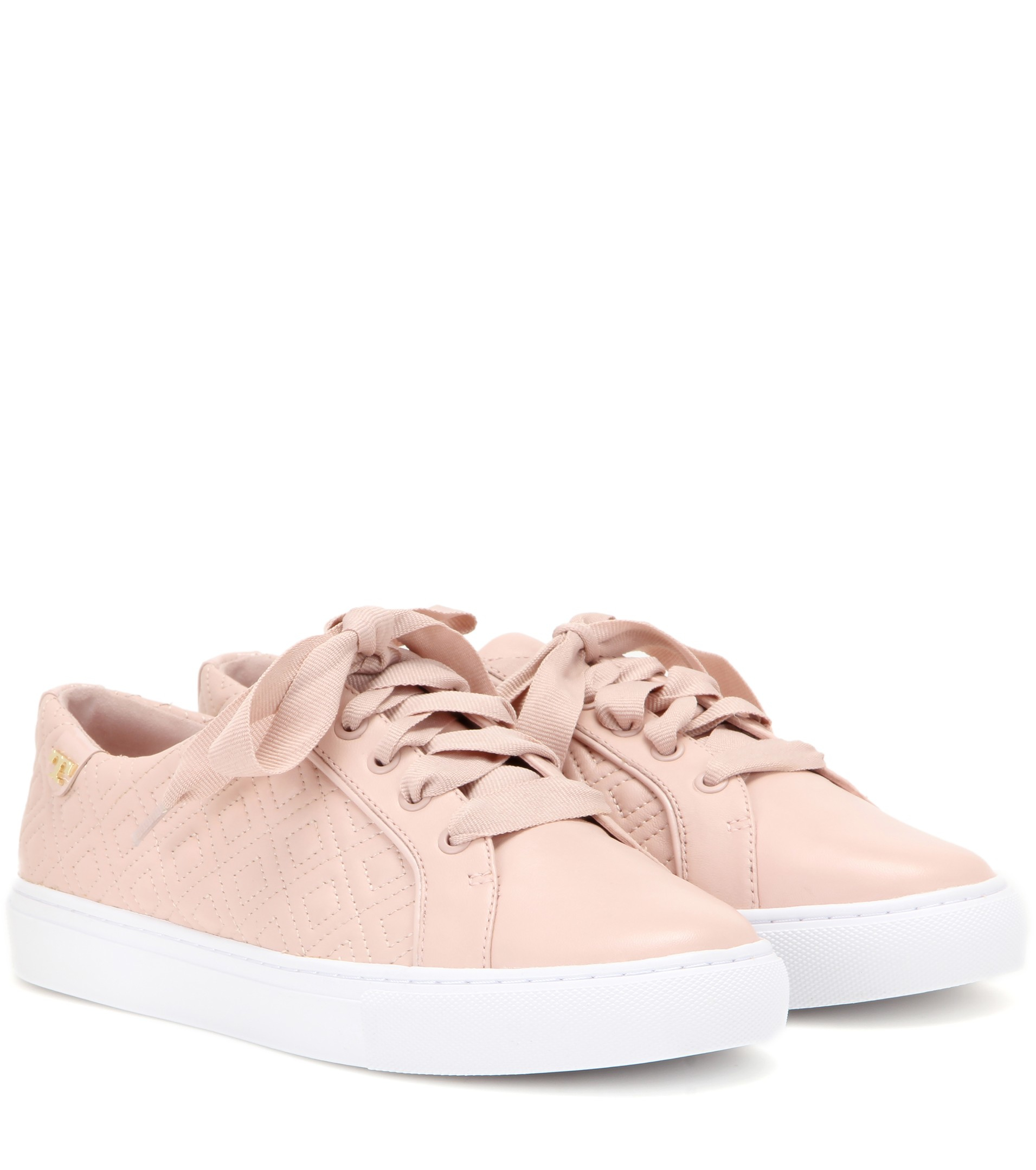 Tory Burch Ruffle embellished leather sneakers Official Cheap Price Quality From China Cheap Fake 5abIrljPJ