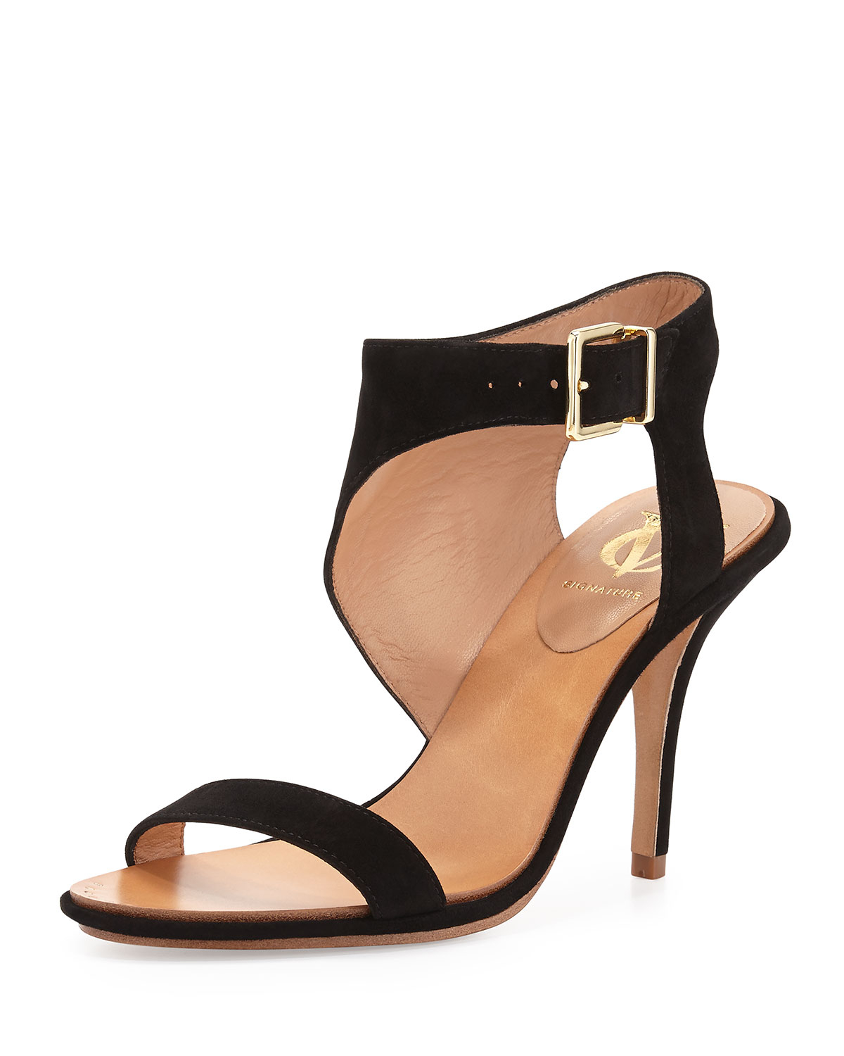 Vince Camuto Signature Suede Pikora Ankle Wrap Sandal In