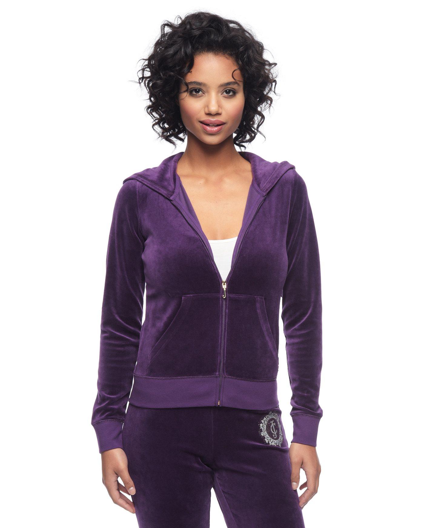 Juicy couture Logo Jc Crystals Velour Original Jacket in ...