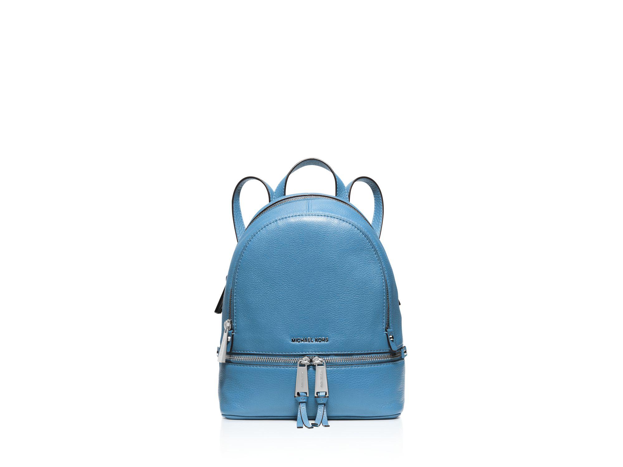 5635c4c465 MICHAEL Michael Kors Extra Small Rhea Zip Backpack in Blue - Lyst
