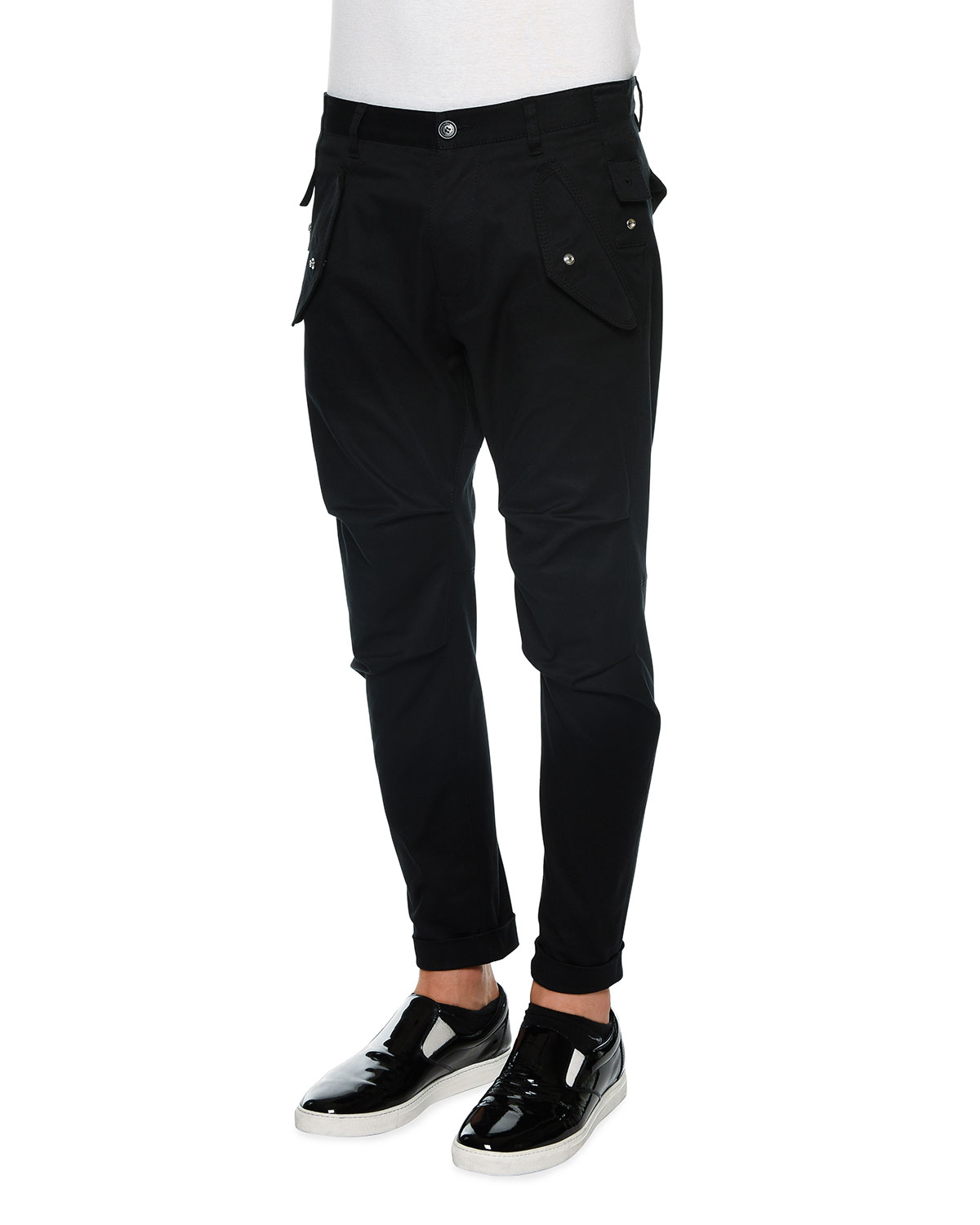 Dsquared² Slim-fit Cargo Pants in Black for Men | Lyst